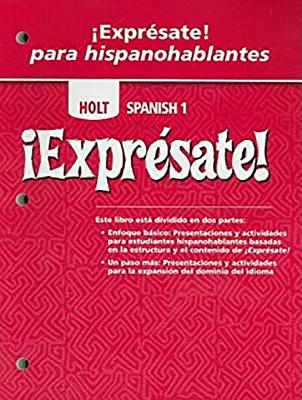 Image for ¡Exprésate!: Expresate para hispanoblantes Teacher's Edition with Answer Key Levels 1A/1B/1