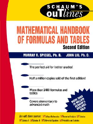 Image for Schaum's Mathematical Handbook of Formulas and Tables