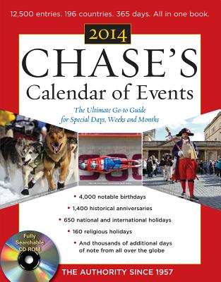 Chase's Calendar of Events 2014 with CD-ROMChase's Calendar of Events 2014 with CD-ROM, Editors of Chase's Calendar of Events  (Author)