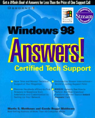 Image for Windows 98 Answers! Certified Tech Support