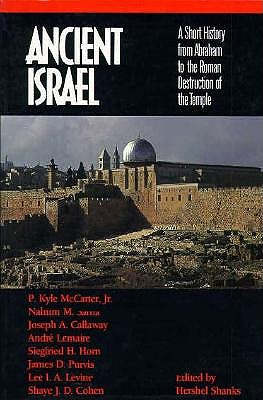 Image for Ancient Israel: A Short History from Abraham to the Roman Destruction of the Temple