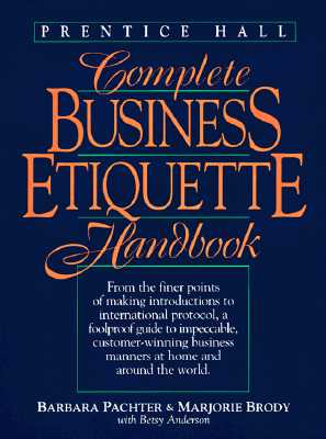 Image for Complete Business Etiquette Handbook by Barbara Pachter; Marjorie Brody