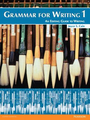 Image for Grammar for Writing 1 Student's Book