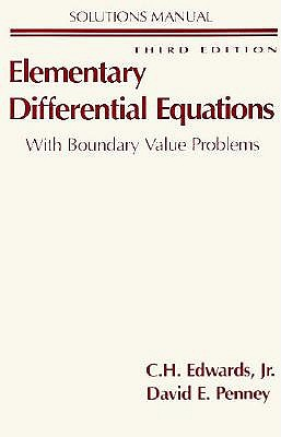 Sm Elementary Differential Equations S/M, EDWARDS PENNEY