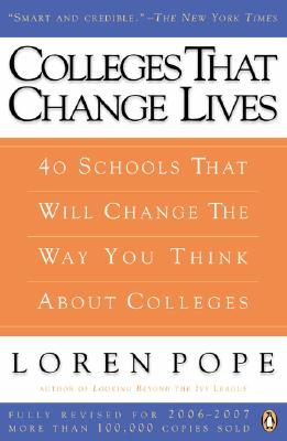 Image for COLLEGES THAT CHANGE LIVES : 41 SCHOOLS