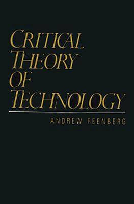 Image for Critical Theory of Technology