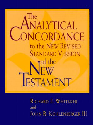 Image for The Analytical Concordance to the New Revised Standard Version of the New Testament