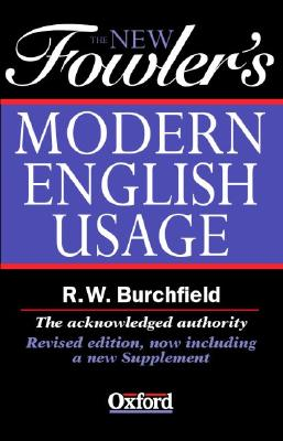 Image for The New Fowler's Modern English Usage