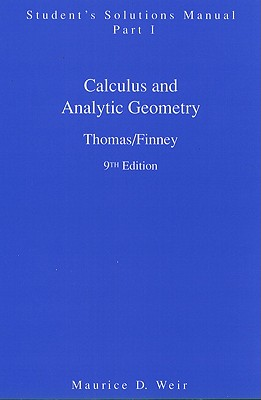 Image for Calculus and Analytic Geometry, 9th Edition: Student's Solutions Manual, Part 1