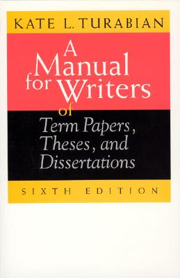 Image for MANUAL FOR WRITERS OF TERM PAPERS