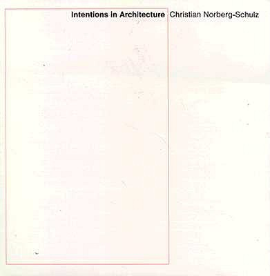 Image for Intentions in Architecture