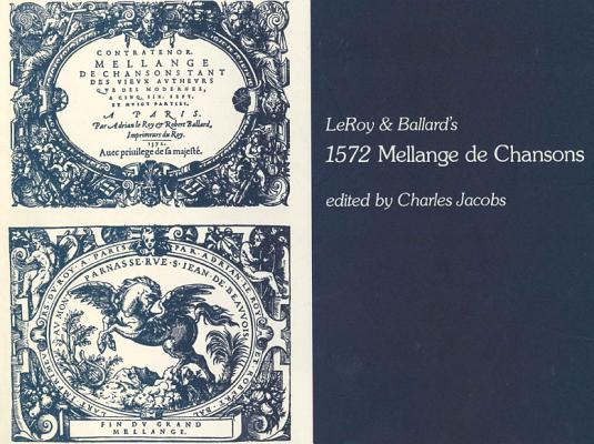 Image for 1572 Mellange De Chansons: By LeRoy and Ballard