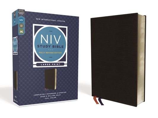 Image for NIV Study Bible, Fully Revised Edition, Large Print, Bonded Leather, Black, Red Letter, Comfort Print