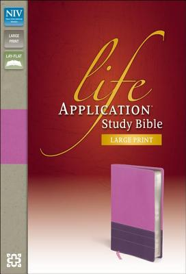 Image for NIV Life Application Study Bible, Large Print (Dark Orchid/Plum Duo-Tone)