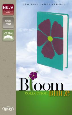 """Image for """"''NKJV, Bloom Collection Bible, Compact, Imitation Leather, PurpleTurquoise, Red Letter Edition (The''"""""""