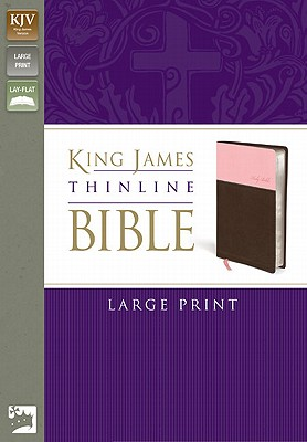 Image for KJV, Thinline Bible, Large Print, Imitation Leather, Pink/Brown, Red Letter Edition