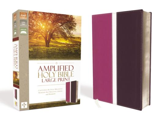 Image for Amplified Holy Bible, Large Print, Leathersoft, Pink/Purple: Captures the Full Meaning Behind the Original Greek and Hebrew