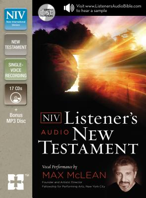 Image for NIV, Listener's Audio Bible, New Testament, Audio CD: Vocal Performance by Max McLean