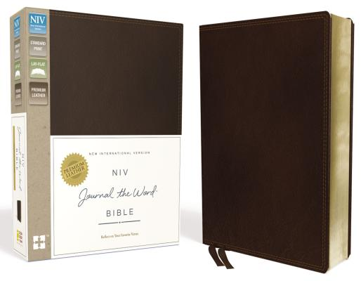 "Image for ""NIV, Journal the Word Bible (Brown Premium Leather)"""