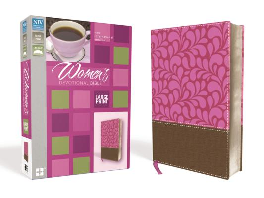 """Image for """"NIV Womens Large-Print Devotional Bible--soft leather-look, brown/pink"""""""