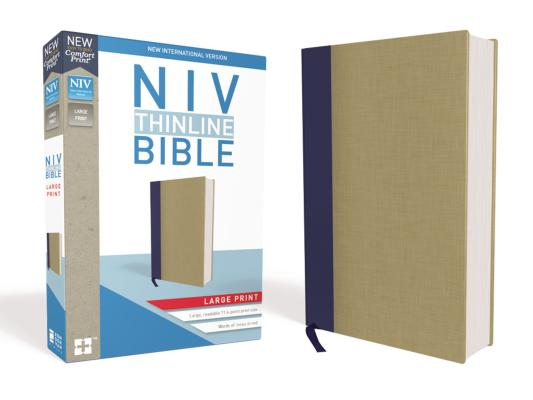 Image for NIV Thinline Bible LP Cloth over Board Blue/Tan RL