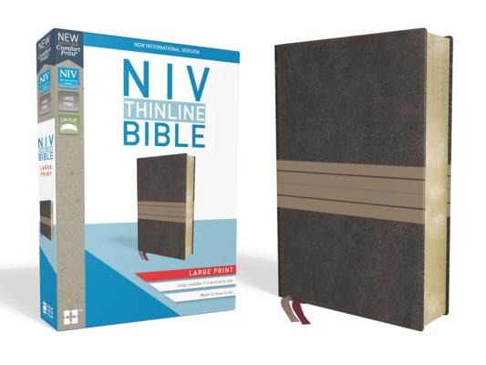 Image for NIV, Thinline Bible, Large Print, Leathersoft, Brown/Tan, Red Letter Edition, Comfort Print