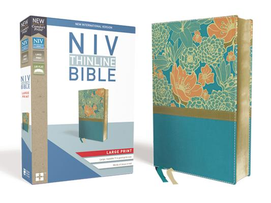 Image for NIV, Thinline Bible, Large Print, Leathersoft, Teal, Red Letter Edition, Comfort Print