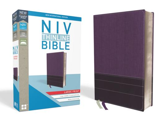 Image for NIV, Thinline Bible, Large Print, Leathersoft, Purple, Red Letter Edition, Comfort Print