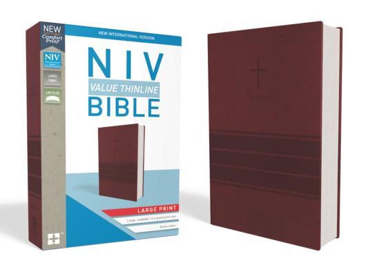 Image for NIV Value Thinline Bible LP LS Burgundy