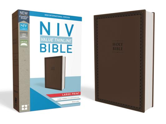 "Image for ""NIV Value Thinline Bible Large Print Brown, Imitation Leather"""