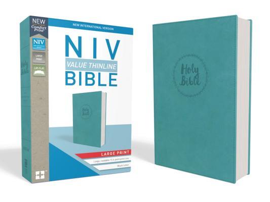 Image for NIV, Value Thinline Bible, Large Print, Imitation Leather, Blue
