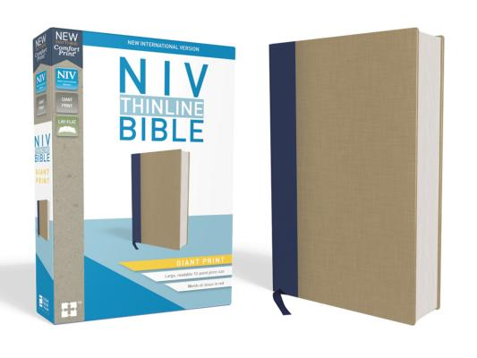 Image for NIV Thinline Bible GP Cloth over Board Blue/Tan RL