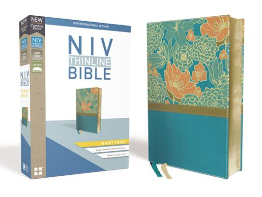 Image for NIV, Thinline Bible, Giant Print, Leathersoft, Teal, Red Letter Edition, Comfort Print