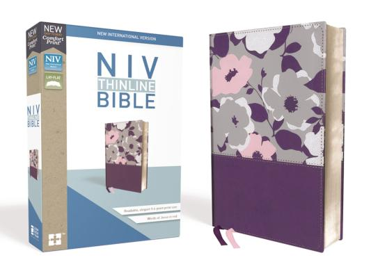 Image for NIV, Thinline Bible, Leathersoft, Purple, Red Letter Edition, Comfort Print