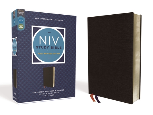 Image for NIV Study Bible, Fully Revised Edition, Bonded Leather, Black, Red Letter, Comfort Print