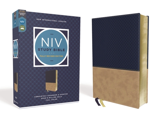 Image for NIV Study Bible, Fully Revised Edition, Leathersoft, Navy/Tan, Red Letter, Comfort Print
