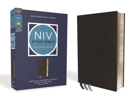 Image for NIV Study Bible, Fully Revised Edition, Genuine Leather, Calfskin, Black, Red Letter, Comfort Print