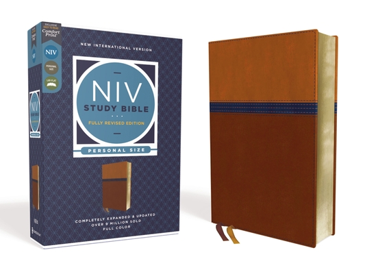 Image for NIV Study Bible, Fully Revised Edition, Personal Size, Leathersoft, Brown/Blue, Red Letter, Comfort Print