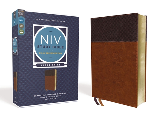 Image for NIV Study Bible, Fully Revised Edition, Large Print, Leathersoft, Brown, Red Letter, Comfort Print