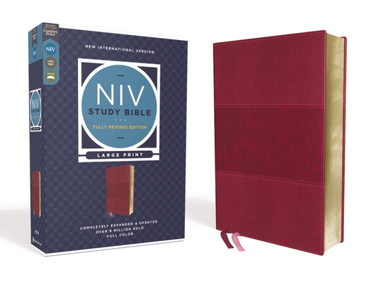 Image for NIV Study Bible, Fully Revised Edition, Large Print, Leathersoft, Burgundy, Red Letter, Comfort Print