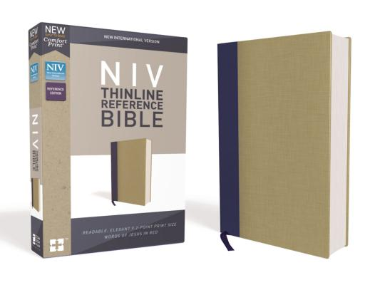 Image for NIV Thinline Ref Bible HC Blue Tan