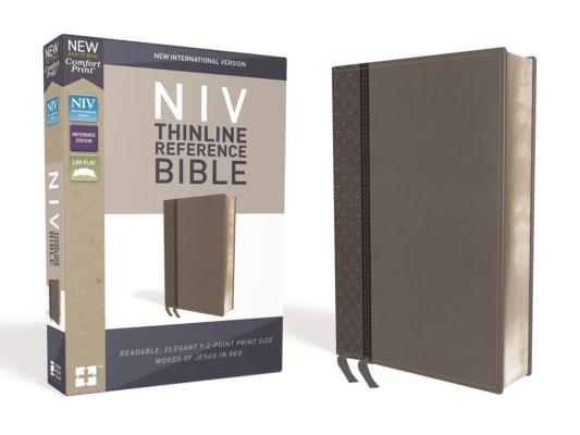 Image for NIV, Thinline Reference Bible, Leathersoft, Gray, Red Letter Edition, Comfort Print