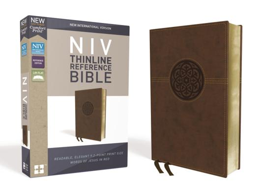 Image for NIV, Thinline Reference Bible, Leathersoft, Brown, Red Letter Edition, Comfort Print