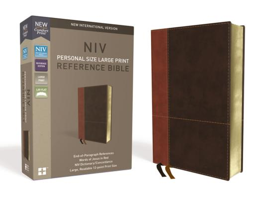 Image for NIV, PERSONAL SIZE REFERENCE BIBLE, LARGE PRINT, LEATHERSOFT, TAN/BROWN, RED LETTER EDITION, COMFORT