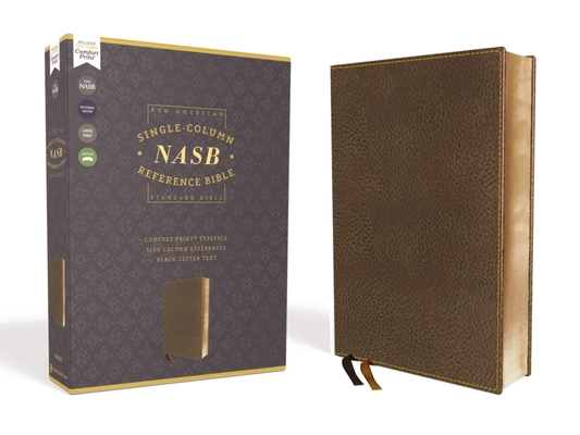 Image for NASB, Single-Column Reference Bible, Wide Margin, Leathersoft, Brown, 1995 Text, Comfort Print