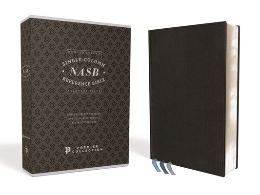 Image for NASB, Single-Column Reference Bible, Wide Margin, Goatskin, Black, Premier Collection, 1995 Text, Comfort Print
