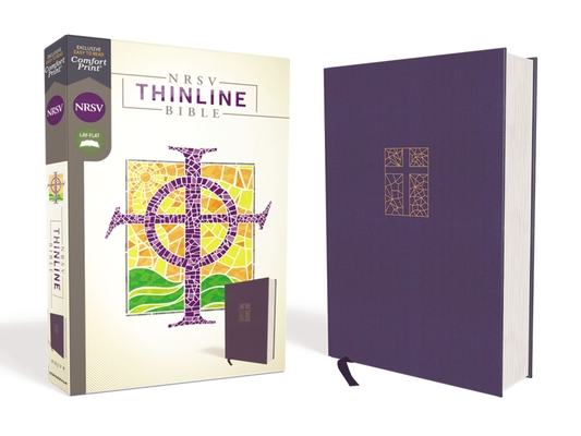 Image for NRSV, Thinline Bible, Cloth over Board, Navy, Comfort Print