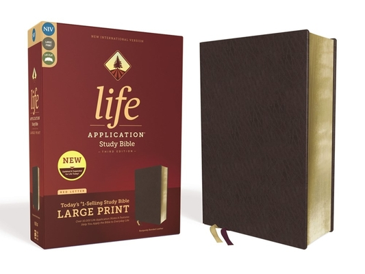 Image for NIV, Life Application Study Bible, Third Edition, Large Print, Bonded Leather, Burgundy, Red Letter Edition