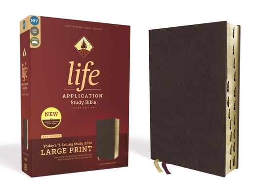 Image for NIV, Life Application Study Bible, Third Edition, Large Print, Bonded Leather, Burgundy, Red Letter Edition, Thumb Indexed