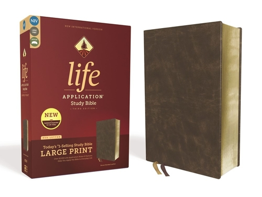 Image for NIV, Life Application Study Bible, Third Edition, Large Print, Bonded Leather, Brown, Red Letter Edition